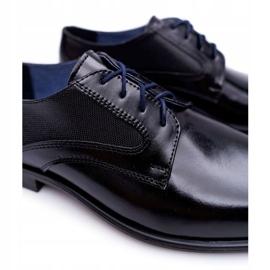 Bednarek Polish Shoes Męskie Półbuty Bednarek Eleganckie Skórzane Wizytowe Czarne Midas 7