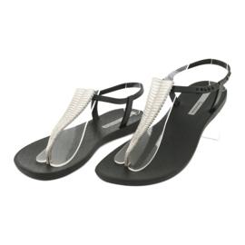 Sandałki japonki Ipanema 82862 czarne szare 3