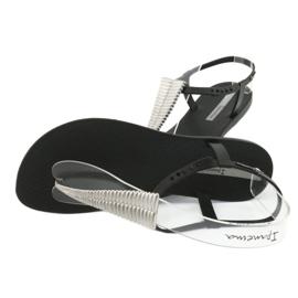 Sandałki japonki Ipanema 82862 czarne szare 4