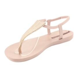Sandałki japonki Ipanema 82862 różowe żółte 2