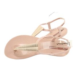 Sandałki japonki Ipanema 82862 różowe żółte 4