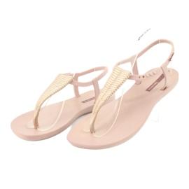 Sandałki japonki Ipanema 82862 różowe żółte 3