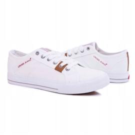 Trampki Męskie Cross Jeans Klasyczne Materiałowe Białe DD1R4029 6