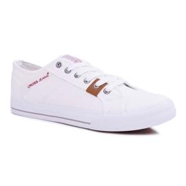 Trampki Męskie Cross Jeans Klasyczne Materiałowe Białe DD1R4029 1