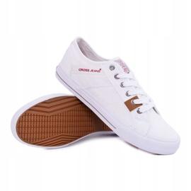 Trampki Męskie Cross Jeans Klasyczne Materiałowe Białe DD1R4029 3