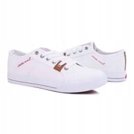 Trampki Męskie Cross Jeans Klasyczne Materiałowe Białe DD1R4029 4