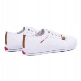 Trampki Męskie Cross Jeans Klasyczne Materiałowe Białe DD1R4029 2
