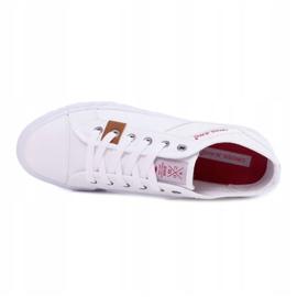 Trampki Męskie Cross Jeans Klasyczne Materiałowe Białe DD1R4029 5