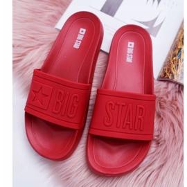 Klapki Damskie Big Star Czerwone DD274A270 1
