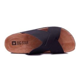 Klapki Męskie Big Star Czarne DD174603 2