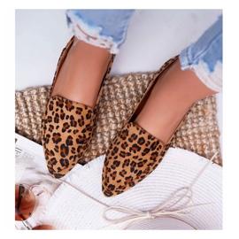 Damskie Mokasyny Lu Boo Leopard Magnus brązowe 4