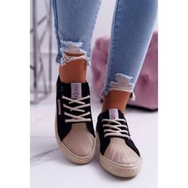 Trampki Damskie Cross Jeans Czarne DD2R4093 2