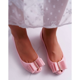 Różowe Damskie Balerinki Meliski Kasha 3