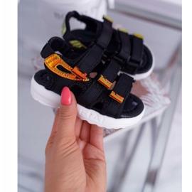 FRROCK Dziecięce Sandały Na Rzepy Dla Dziewczynki Chłopca Czarne Kimmi 3