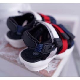 FRROCK Dziecięce Sandały Na Rzepy Dla Dziewczynki Chłopca Czarne Fima 2