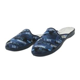 Befado kolorowe obuwie dziecięce  707Y402 czarne granatowe niebieskie 3