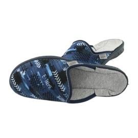 Befado kolorowe obuwie dziecięce  707Y402 czarne granatowe niebieskie 4