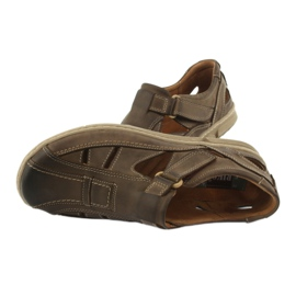 Sandały męskie komfort Riko 458 khaki 5