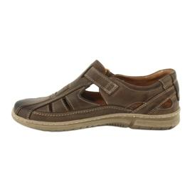 Sandały męskie komfort Riko 458 khaki 2