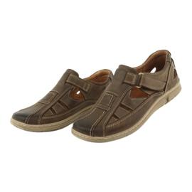 Sandały męskie komfort Riko 458 khaki 3