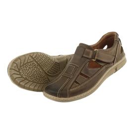 Sandały męskie komfort Riko 458 khaki 4