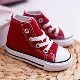 FRROCK Dziecięce Trampki Klasyczne Wysokie Czerwone Filemon 1