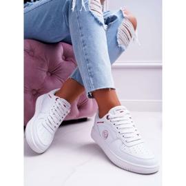 Trampki Damskie Cross Jeans Białe EE2R4143C 4