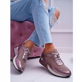 Damskie Sportowe Buty Beżowe Sergio Leone Ondar brązowe różowe 4