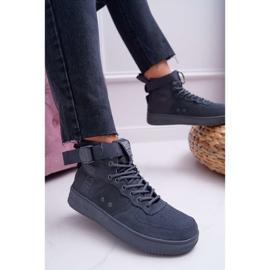 Sneakersy Damskie Trampki Szare Big Star EE274661 2