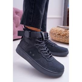 Sneakersy Damskie Trampki Szare Big Star EE274661 3