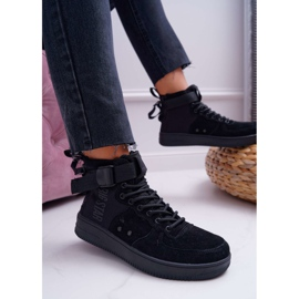 Sneakersy Damskie Trampki Czarne Big Star EE274662 2