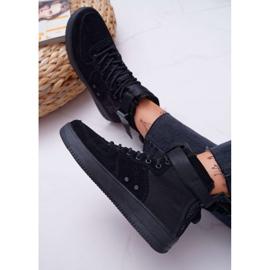 Sneakersy Damskie Trampki Czarne Big Star EE274662 7