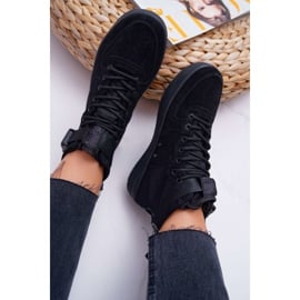 Sneakersy Damskie Trampki Czarne Big Star EE274662 6