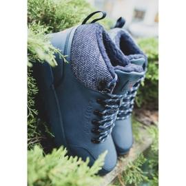 Męskie Buty Trekkingowe Cross Jeans Granatowe EE1R4115C 2