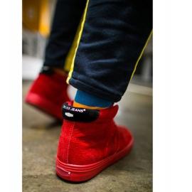 Trampki Męskie Cross Jeans Wysokie Skóra Zamsz Czerwone EE1R4055C 3