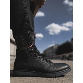 Męskie Botki Trapery Cross Jeans Czarne EE1R4081C 5
