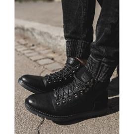 Męskie Botki Trapery Cross Jeans Czarne EE1R4081C 4