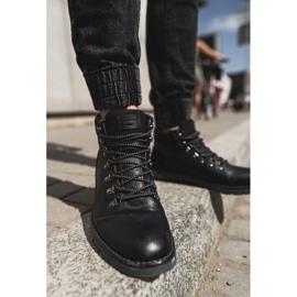 Męskie Botki Trapery Cross Jeans Czarne EE1R4081C 2