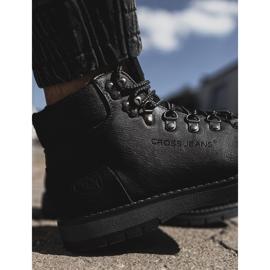 Męskie Botki Trapery Cross Jeans Czarne EE1R4081C 3