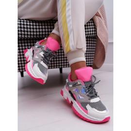 SEA Sportowe Damskie Buty Kolorowe Wstawki Fuksja Colored różowe wielokolorowe 1
