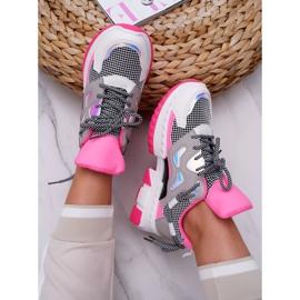 SEA Sportowe Damskie Buty Kolorowe Wstawki Fuksja Colored różowe wielokolorowe 4