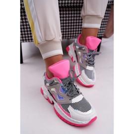 SEA Sportowe Damskie Buty Kolorowe Wstawki Fuksja Colored różowe wielokolorowe 2