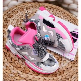 SEA Sportowe Damskie Buty Kolorowe Wstawki Fuksja Colored różowe wielokolorowe 5