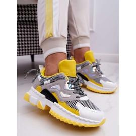 SEA Sportowe Damskie Buty Kolorowe Wstawki Żółte Colored wielokolorowe 1