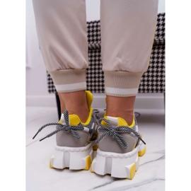 SEA Sportowe Damskie Buty Kolorowe Wstawki Żółte Colored wielokolorowe 3