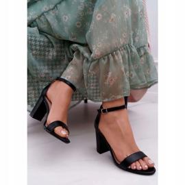 PS1 Sandały Damskie Na Słupku Klasyczne Czarne Fiji 3