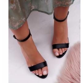 PS1 Sandały Damskie Na Słupku Klasyczne Czarne Fiji 4