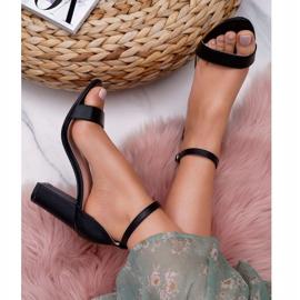 PS1 Sandały Damskie Na Słupku Klasyczne Czarne Fiji 1