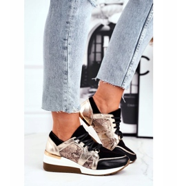 Nicole Sneakersy Damskie Złote Skóra Naturalna Coledo złoty 1