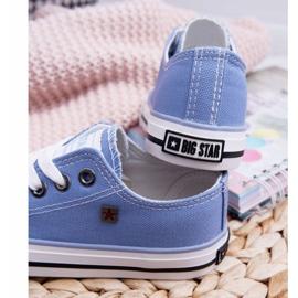 Trampki Dziecięce Big Star Niebieskie FF374203 3